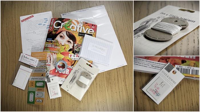 Le contenu de la créabox de septembre 2012 ☆☆