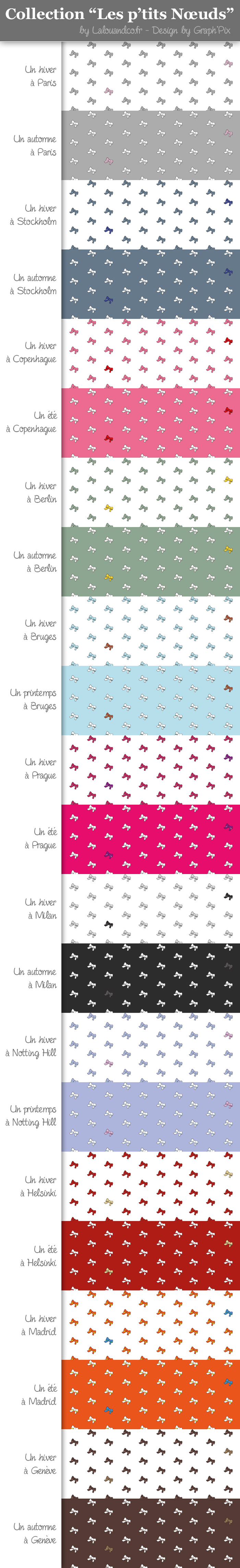 Tissus personnalisés : La Collection «Les P'tits Noeuds»