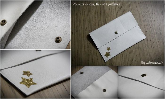 pochette cuir et flex Lalouandco