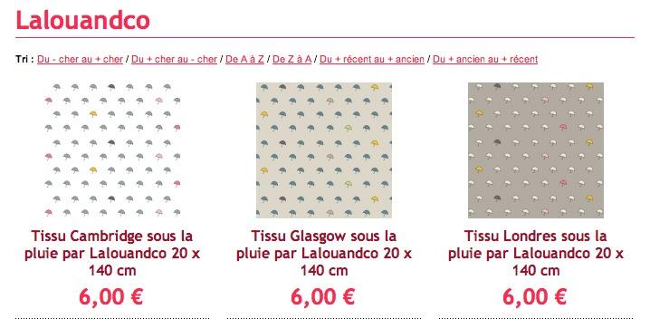La collection de tissus «Sous la pluie» chez Motif Personnel