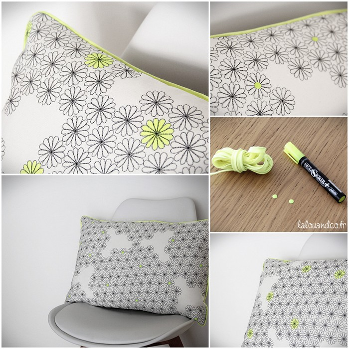Diy customisez votre tissu ikea lalouandco lalouandco - Coussin jaune ikea ...