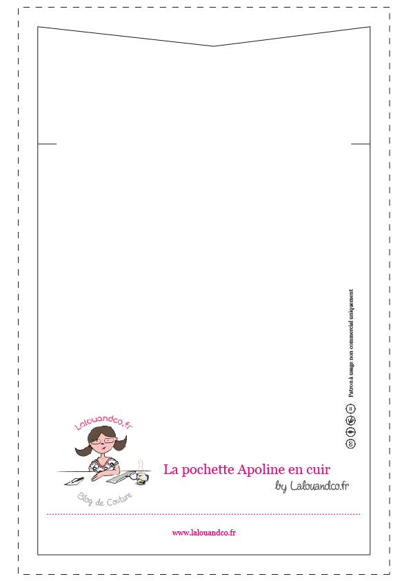 patron pochette Apoline Lalouandco DIY