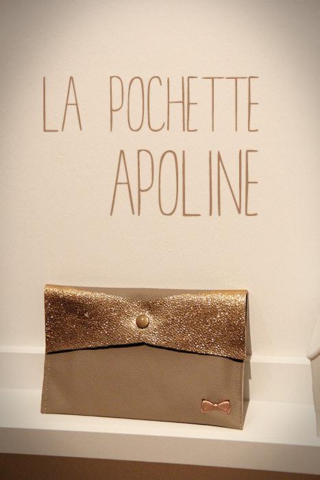 La pochette Apoline en cuir [tutoriel et patron]