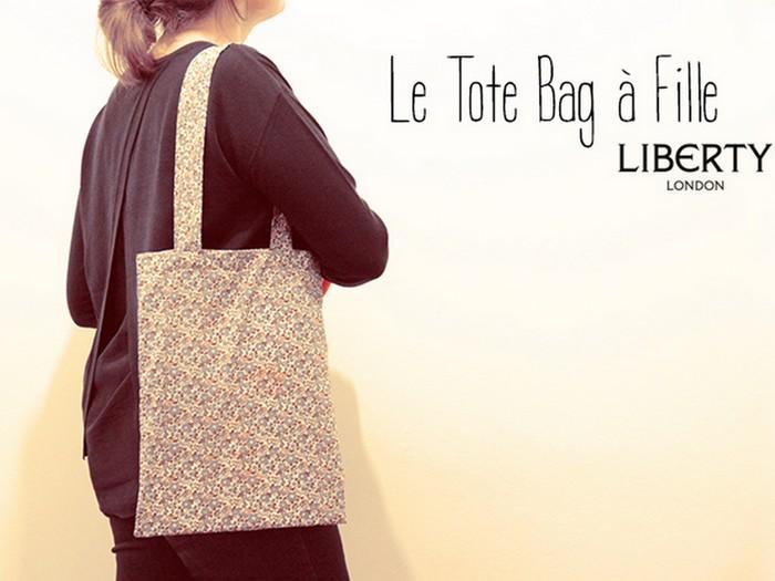 Mon tote bag à fille en Liberty Betsy