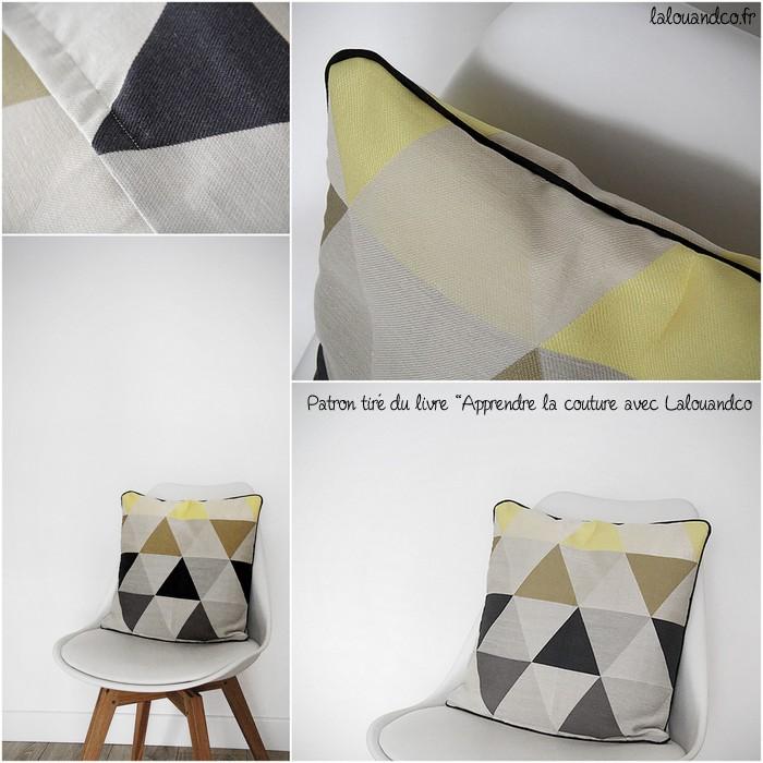Coussin triangles #1 [Apprendre la couture avec Lalouandco]