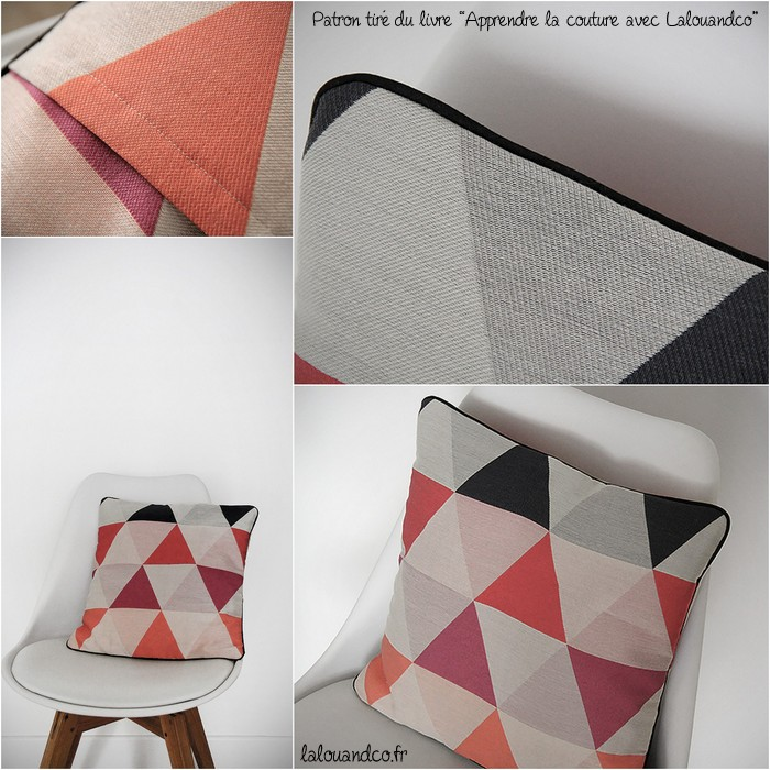 coussin triangles 2 apprendre la couture avec lalouandco. Black Bedroom Furniture Sets. Home Design Ideas