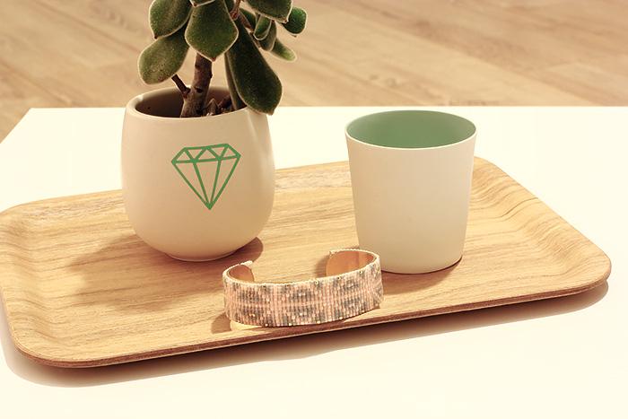 Bracelet «manchette» de perles Miyuki #1
