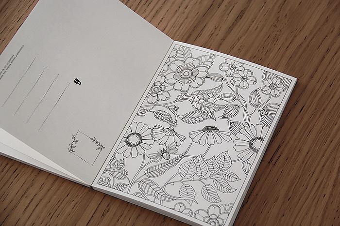 Secret Garden Cartes Postale Coloriage