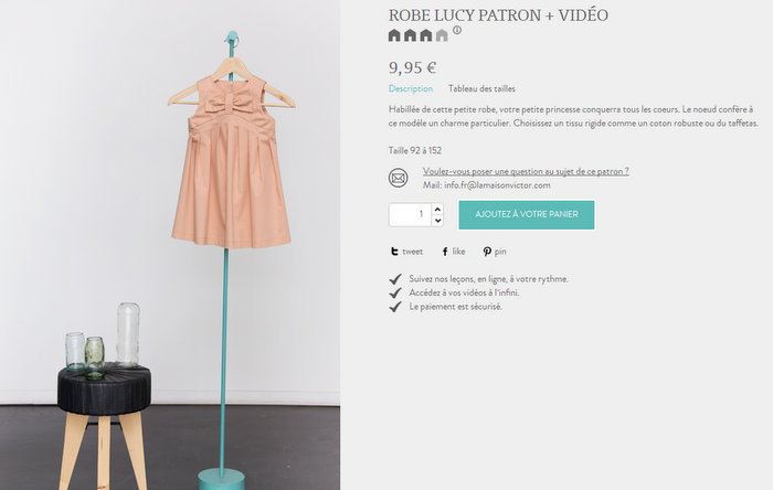 Patron couture robe noeud archives lalouandco lalouandco for Couture a la maison