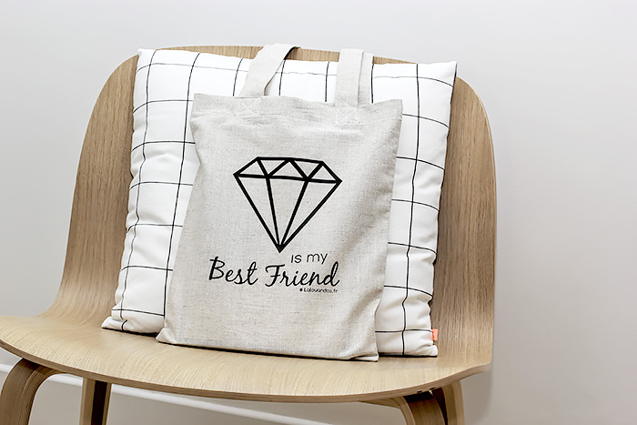 Le tote bag Diamant « is my Best Friend »