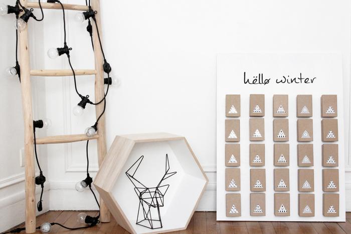 5 calendriers de l 39 avent faire soi m me diy. Black Bedroom Furniture Sets. Home Design Ideas