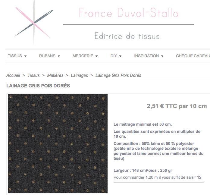 tissu-lainage-gris-pois-dores-france-duval-stalla