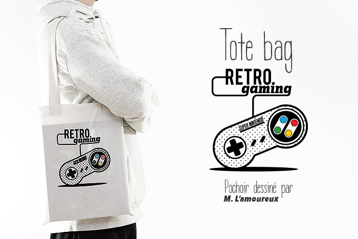 Le tote bag Rétro Gaming • DIY