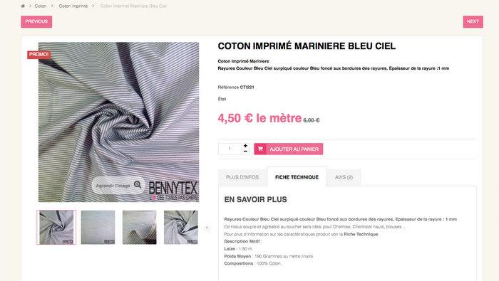 Bennytex-coton-imprime-mariniere-pas-cher