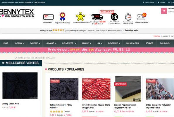 Bennytex : l'amour des tissus pas chers