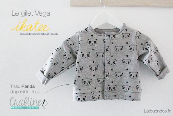 Gilet de naissance Vega & Têtes de panda