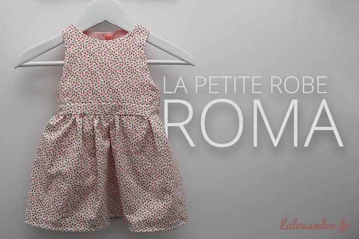 La robe Roma • Rose «Motif B»