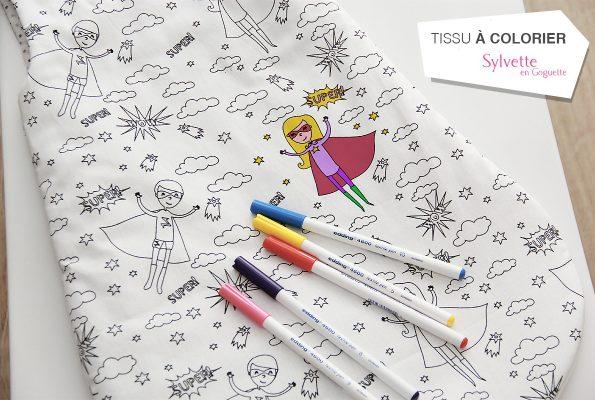 La gigoteuse à colorier [concours • tissus à colorier]